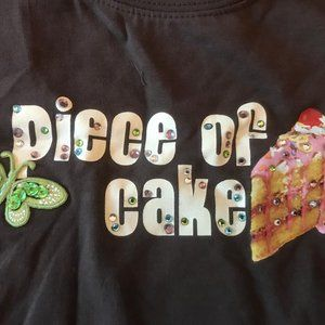 NWT TCP shirt PIECE OF CAKE birthday 4 top rhinest